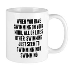Swimming On Your Mind Mugs