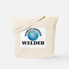 World's Happiest Welder Tote Bag