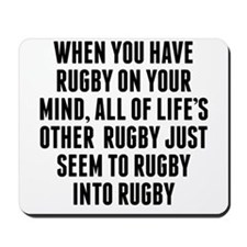 Rugby On Your Mind Mousepad