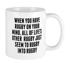 Rugby On Your Mind Mugs