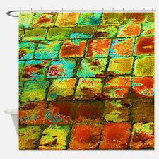 brick Shower Curtain