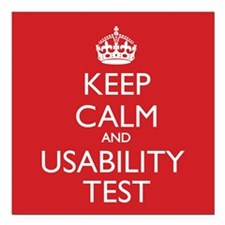 "KEEP CALM and USABILITY Square Car Magnet 3"" x 3"""