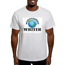 World's Happiest Writer T-Shirt