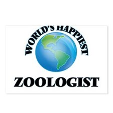 World's Happiest Zoologis Postcards (Package of 8)