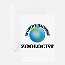 World's Happiest Zoologist Greeting Cards