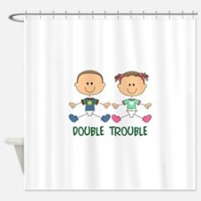 TWINS DOUBLE TROUBLE Shower Curtain