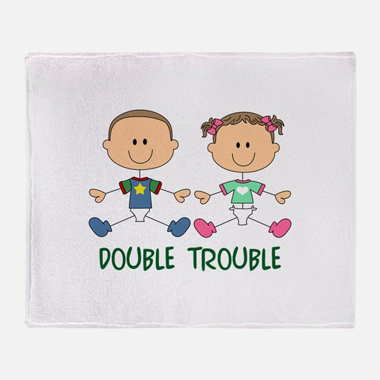 TWINS DOUBLE TROUBLE Throw Blanket