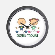 TWINS DOUBLE TROUBLE Wall Clock