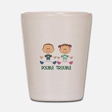 TWINS DOUBLE TROUBLE Shot Glass