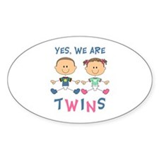 YES WE ARE TWINS Decal