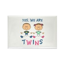 YES WE ARE TWINS Magnets