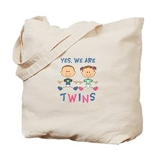 YES WE ARE TWINS Tote Bag