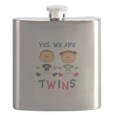 YES WE ARE TWINS Flask