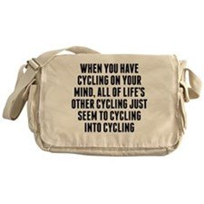 Cycling On Your Mind Messenger Bag