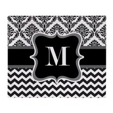 Personalised Letter M on Shower Curtain Throw Blan