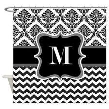 Personalised Letter M on Shower Curtain Shower Cur