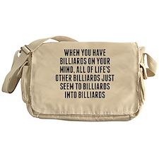 Billiards On Your Mind Messenger Bag