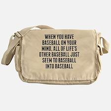 Baseball On Your Mind Messenger Bag