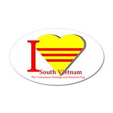 I love Viet Nam Cong Hoa Wall Decal