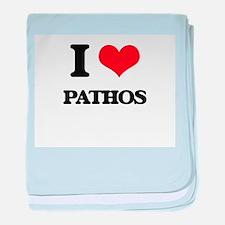 I Love Pathos baby blanket