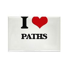 I Love Paths Magnets