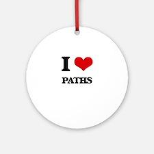 I Love Paths Ornament (Round)