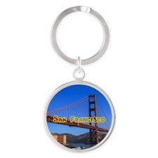 San Francisco Round Keychain