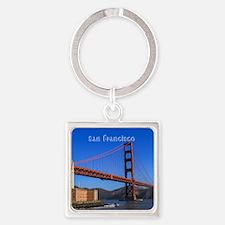 San Francisco Square Keychain