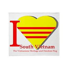 I love Viet Nam Cong Hoa Throw Blanket