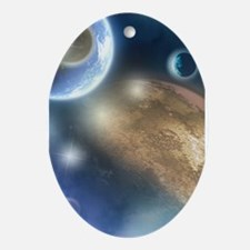 New Planets Ornament (Oval)