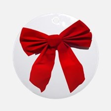 Big Red Bow Ornament (Round)
