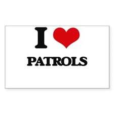 I Love Patrols Decal
