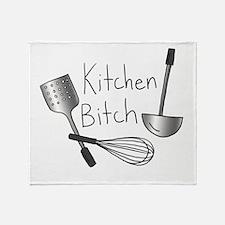 Kitchen Bitch Throw Blanket