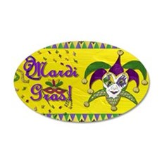 Mardi Gras Jester Mask Wall Decal