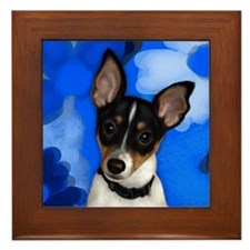 Rat Terrier Dog Framed Tile