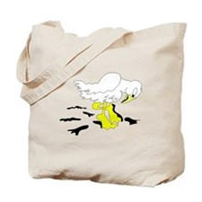 Bird With Oil On Feet Tote Bag