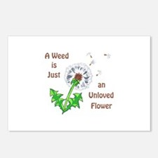 AN UNLOVED FLOWER Postcards (Package of 8)