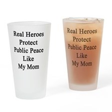 Real Heroes Protect Public Peace Li Drinking Glass