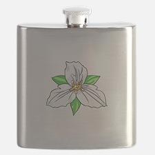 TRILLIUM FLOWER Flask