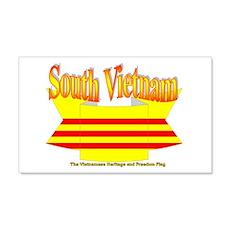 Viet Nam Cong Hoa Flag Ribbon Wall Decal