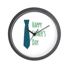 tie_Happy Fathers Day Wall Clock