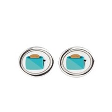 Toaster_base Oval Cufflinks