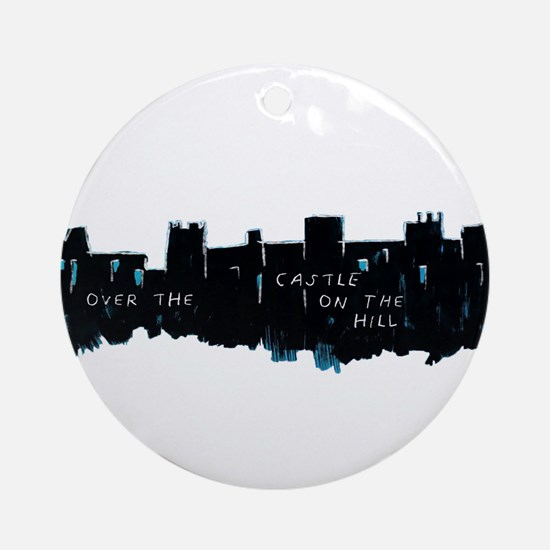 Divide - Castle on the Hill Round Ornament