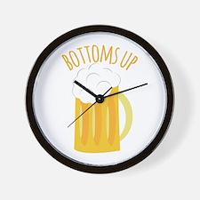 Bottoms Up Wall Clock