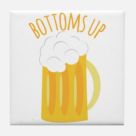 Bottoms Up Tile Coaster