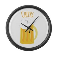 Cheers Up Large Wall Clock