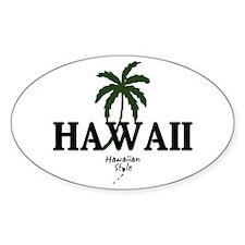 Oval Hawaii Decal