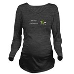 Wine Drinker Long Sleeve Maternity T-Shirt