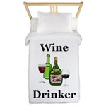 Wine Drinker Twin Duvet