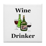 Wine Drinker Tile Coaster